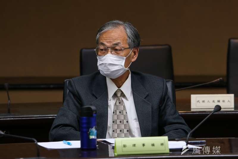 20200327-台灣維護生命協會理事彭禎祥27日出席中選會「人工流產思考期」聽證會。(顏麟宇攝)