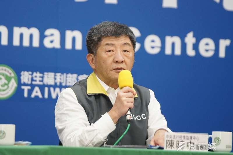 中央流行疫情中心指揮官陳時中今(30)日就在記者會上透露,社交距離指引最快1、2天後就會公布。(資料照,盧逸峰攝)