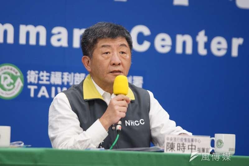 中央流行疫情指揮中心指揮官陳時中(見圖)宣布,1日國內新增7例確診個案,均為境外移入。(資料照,盧逸峰攝)