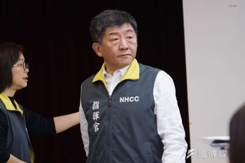 台灣中央流行疫情指揮中心指揮官陳時中認為使用武漢肺炎是比較順的講法。(盧逸峰攝)