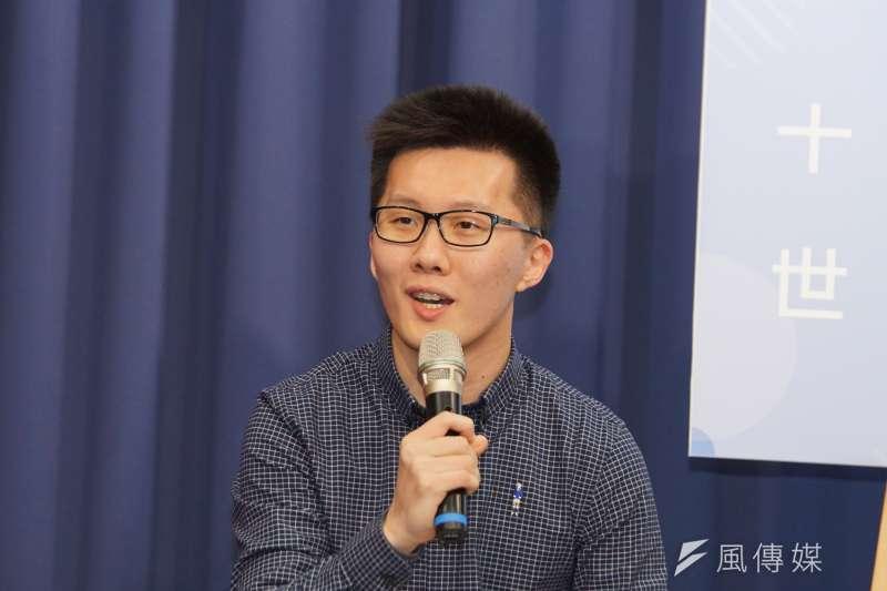 國民黨青年部主任蕭敬嚴(見圖)批評行政院長蘇貞昌,如果真的不喜歡中華民國的國號,就請執政黨修憲,不要只會一直拿台獨當提款機。(資料照,盧逸峰攝)