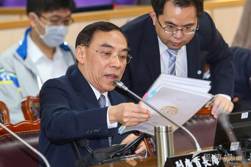 罷韓團體文宣冒用法務部LOGO,法務部長蔡清祥說「能原諒就原諒」。(顏麟宇攝)