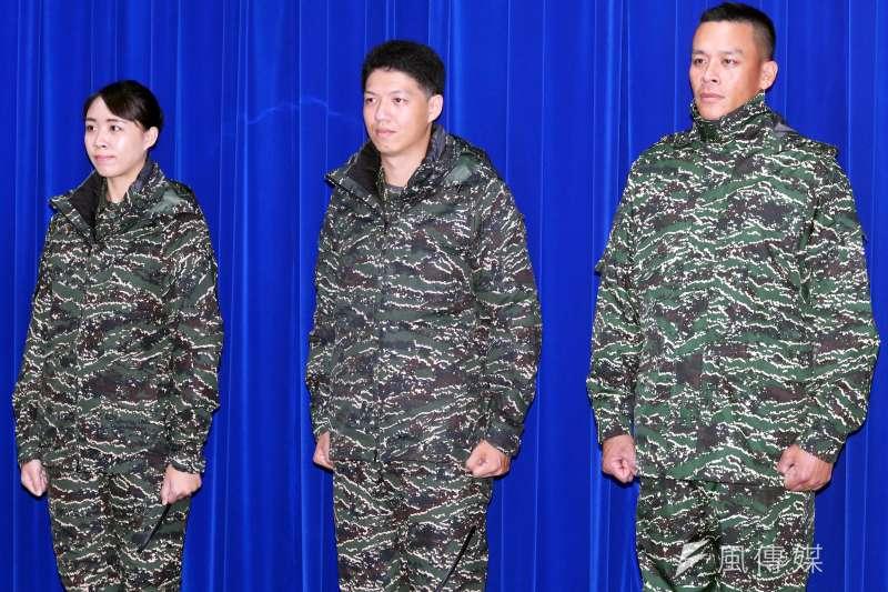 20200331-海軍陸戰隊虎斑數位迷彩防寒夾克。(蘇仲泓攝)