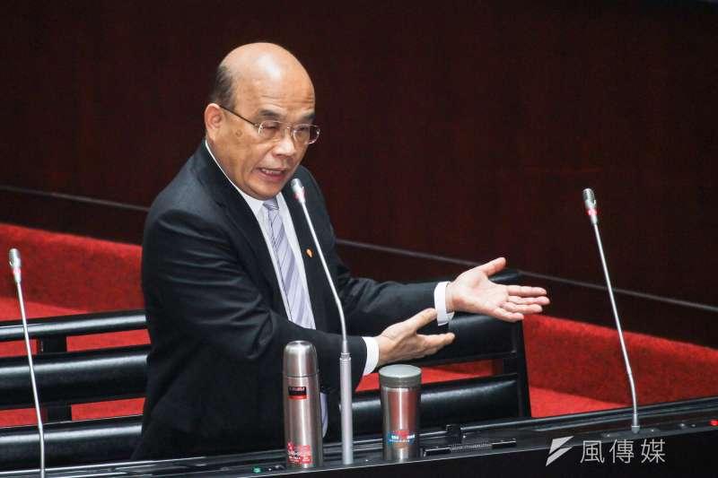 20200331-行政院長蘇貞昌31日於立法院施政備詢。 (蔡親傑攝)