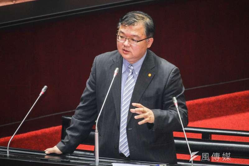 20200331-立委李德維於立院進行一會期第六次會議質詢。 (蔡親傑攝)