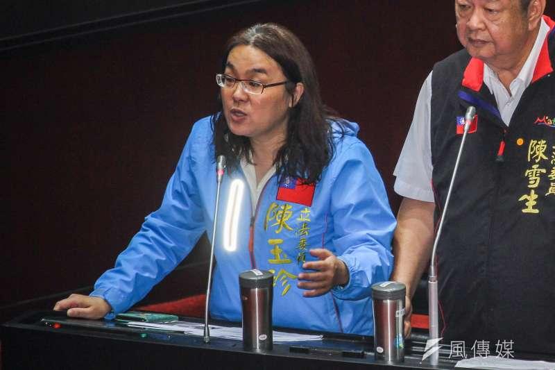 國民黨立委陳玉珍認為,我們的國名就是中華民國,不是台灣。 (蔡親傑攝)