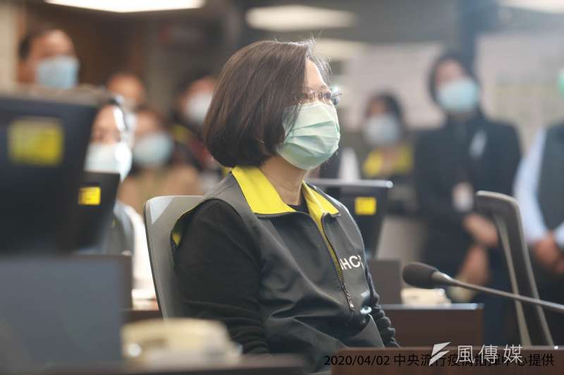 蔡英文總統宣示口罩捐助友邦,爭取他們支持台灣加入世衛組織。(中央流行疫情指揮中心提供)