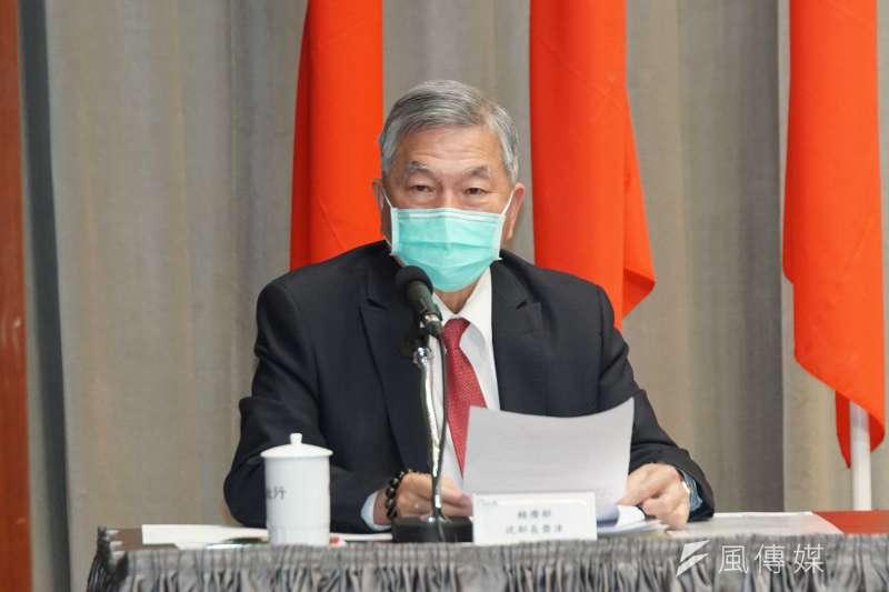 經濟部長沈榮津(見圖)指出,連假過後,國內醫療口罩產能有望挑戰1500萬片。(資料照,盧逸峰攝)