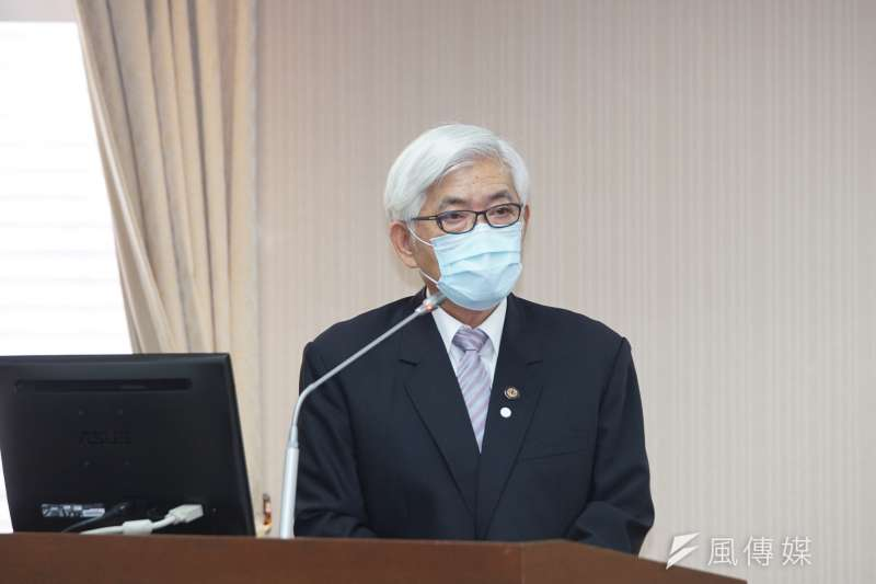 20200406-中選會主委李進勇6日於內政委員會備詢。(盧逸峰攝)