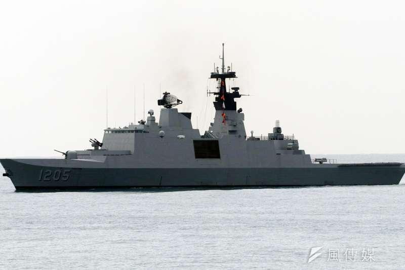 海軍康定級巡防艦干擾火箭系統以8億餘元決標,由康定級的製造國法國廠商進行採購,預計2023年完成升級。(蘇仲泓攝)