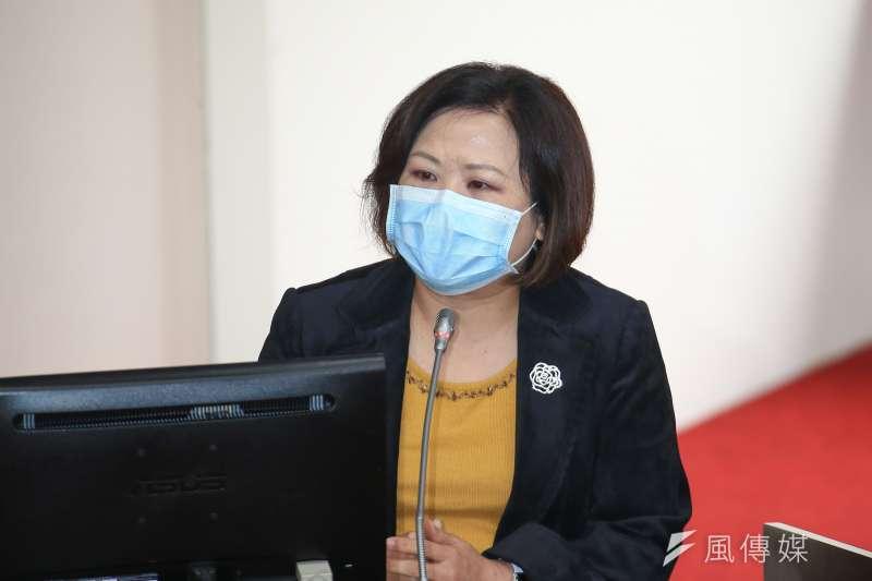 20200406-勞動部長許銘春6日於立院備詢。(顏麟宇攝)