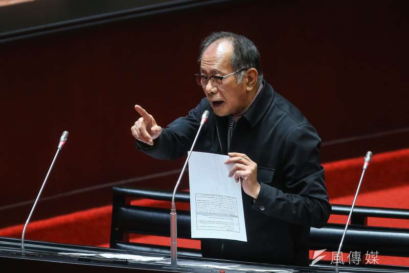 20200407-國民黨立委陳超明7日於立院質詢。(顏麟宇攝)