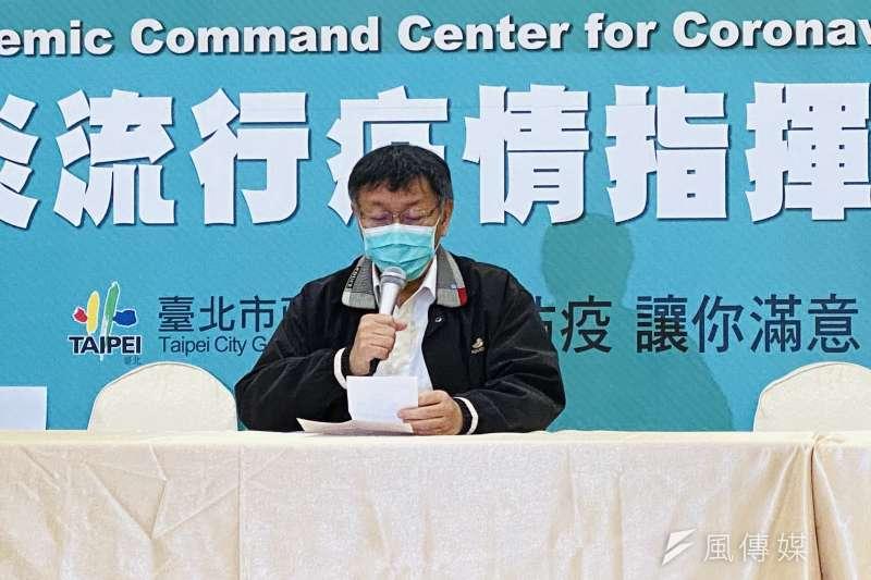 針對清明連假觀光景底人潮眾多,台北市長柯文哲今(8)日表示,若重來一遍應該要有人流管制。(方炳超攝)
