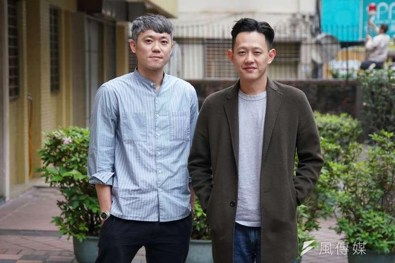 Netflix台劇《誰是被害者》主創團隊7日接受《風傳媒》專訪,導演陳冠仲、莊絢維合影。(盧逸峰攝)