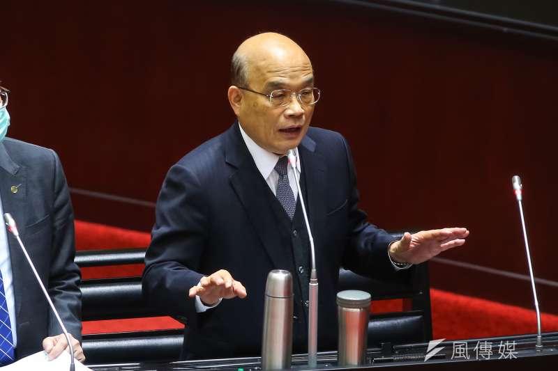 筆者認為行政院長蘇貞昌(見圖)雖然獲得極高的民意支持,但與總統蔡英文間仍有些問題須克服。(資料照,顏麟宇攝)