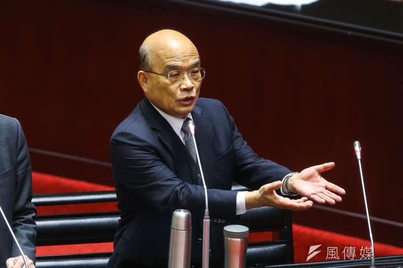行政院長蘇貞昌(見圖)經常利用臉書作為政令宣傳的管道,發文附上Q版人物照的圖片也成為特色。(資料照,顏麟宇攝)