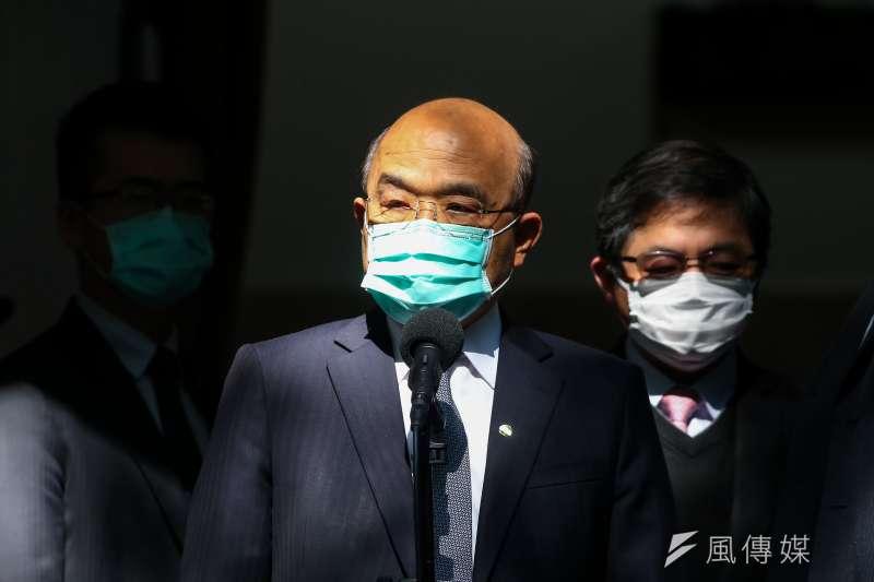 世界衛生組織秘書長譚德塞指控台灣對他人身攻擊一事,行政院長蘇貞昌(見圖)10日受訪時表示,譚德塞應道歉。(顏麟宇攝)