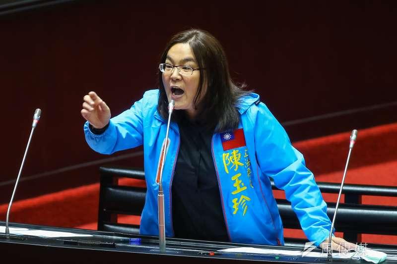 國民黨立委陳玉珍(見圖)在院會質詢時表示,在她的認知裡,中華民國是主權獨立的國家,台灣是一個島。(顏麟宇攝)