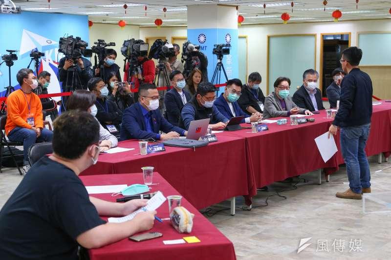 國民黨11日舉行數位行銷科技長決選。(顏麟宇攝)