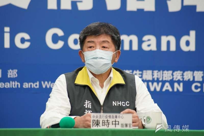 20200412-中央流行疫情指揮中心12日記者會,指揮官陳時中發言。(盧逸峰攝)