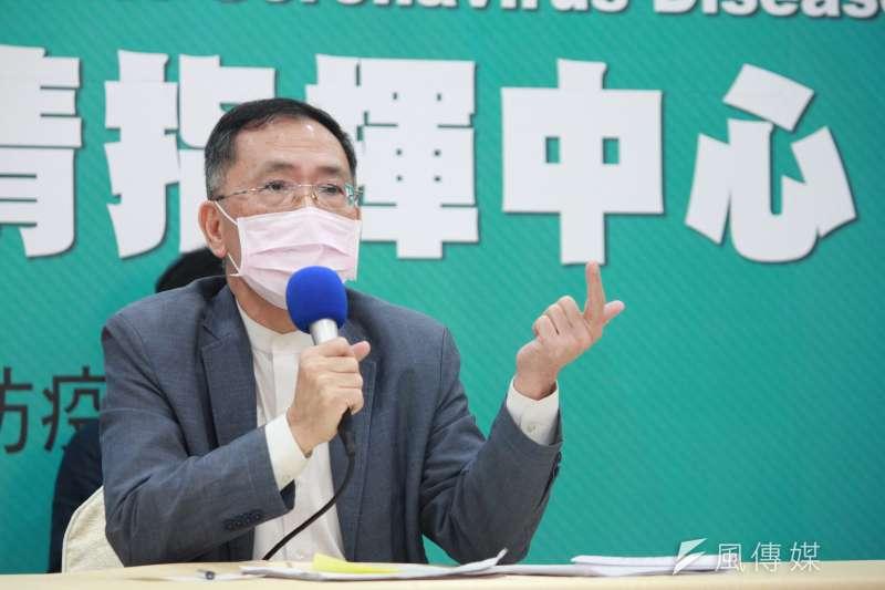 20200414-台北市副市長蔡炳坤。(方炳超攝)