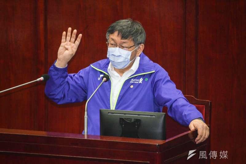 台北市長柯文哲(見圖)表示,明年台北燈節,最後投票結果還是在萬華,正在思考從西門町到龍山寺,已經在規劃要怎麼做。(蔡親傑攝)