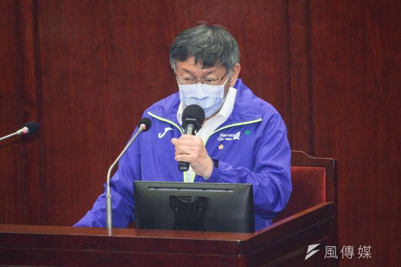 針對敦睦艦隊染疫一事,台北市長柯文哲(見圖)認為,軍人是特殊職業,榮譽要保住,該改進的地方可以改,而非出事就拿他們出來擋。(資料照,蔡親傑攝)