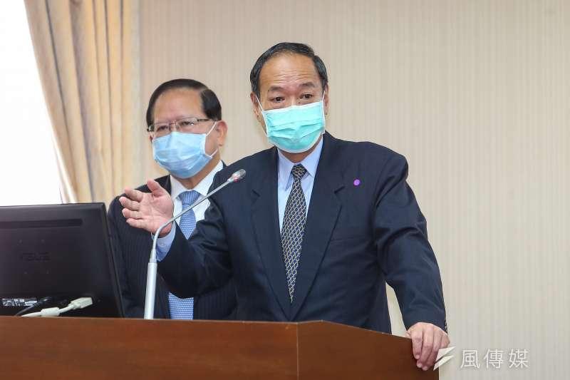 20200416-海委會主委李仲威16日於立院內政委員會備詢。(顏麟宇攝)