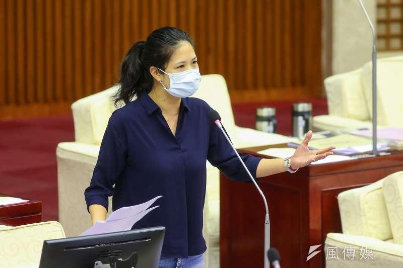 20200417-台北市議員林亮君17日於市議會質詢。(顏麟宇攝)