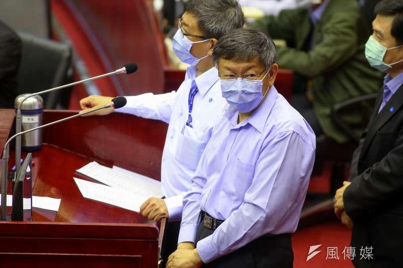 20200417-台北市長柯文哲17日於市議會備詢。(顏麟宇攝)