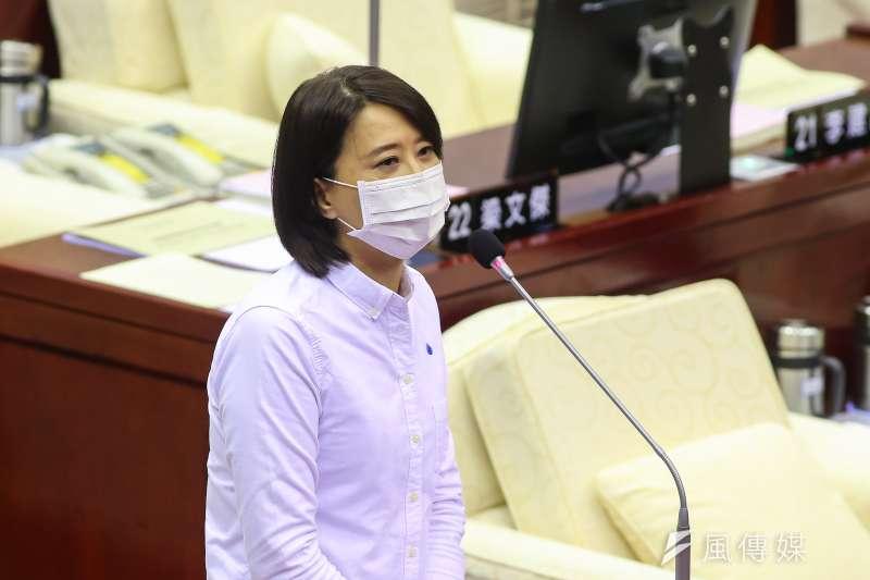 20200417-台北市議員王鴻薇17日於市議會質詢。(顏麟宇攝)