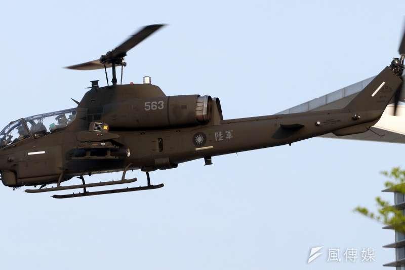20200417-AH-1W超級眼鏡蛇攻擊直升機。(蘇仲泓攝)