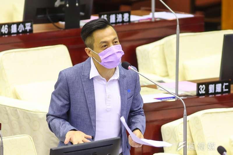 20200417-台北市議員李明賢17日於市議會質詢。(顏麟宇攝)