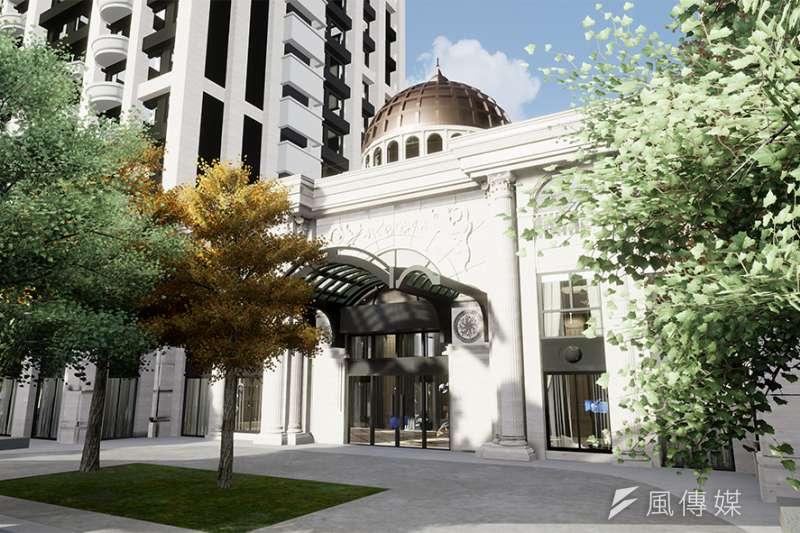 「築禾交響院」建築外觀設計使用羅曼式穹頂崗石鑄造,採用SRC鋼骨鋼筋混凝土構造。(圖/富比士地產王提供)