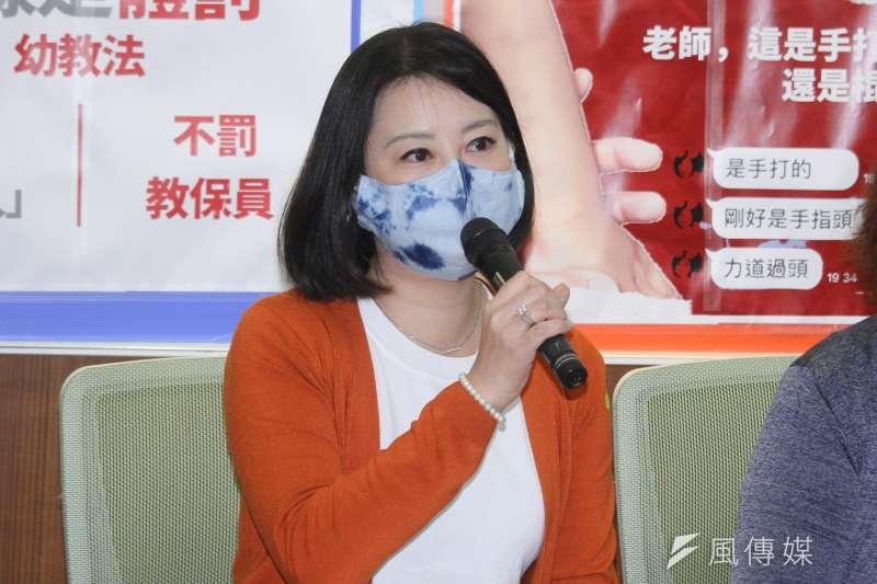 民進黨立委吳思瑤批評立院教育委員會安排考察高雄市是為了要挺韓國瑜,遭國民黨強烈反擊。 (資料照片,蔡親傑攝)