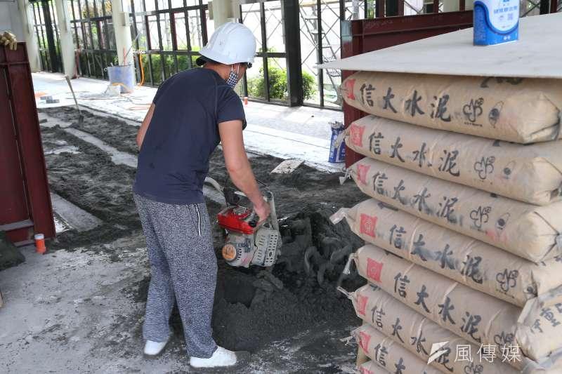 20200418-板橋黃石中繼市場工地工程施工配圖。(顏麟宇攝)