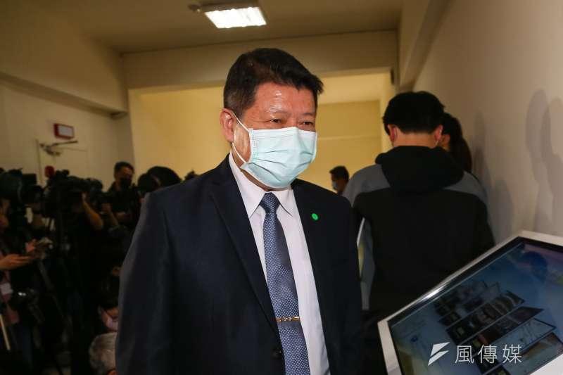 國防部副部長張哲平20日於立院接受媒體聯訪。(顏麟宇攝)