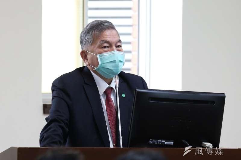 20200420-經濟部長沈榮津20日至立法院進行專案報告,並備質詢。(簡必丞攝)