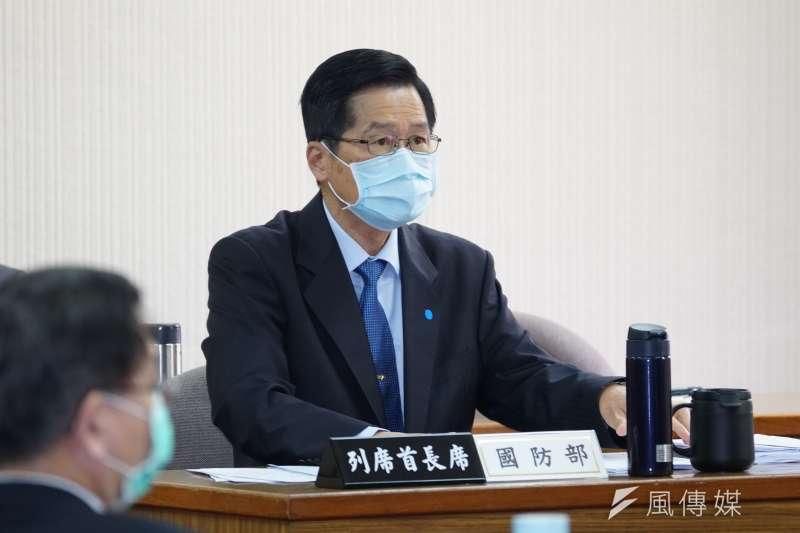 嚴德發在立院答詢中國防空識別區有誤,最後由國防部更正了事。(盧逸峰攝)