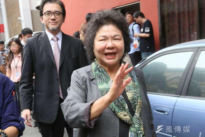 黨內出現由陳菊出任第六屆監察院長的呼聲,但也有盼其續留總統府的意見。(柯承惠攝)