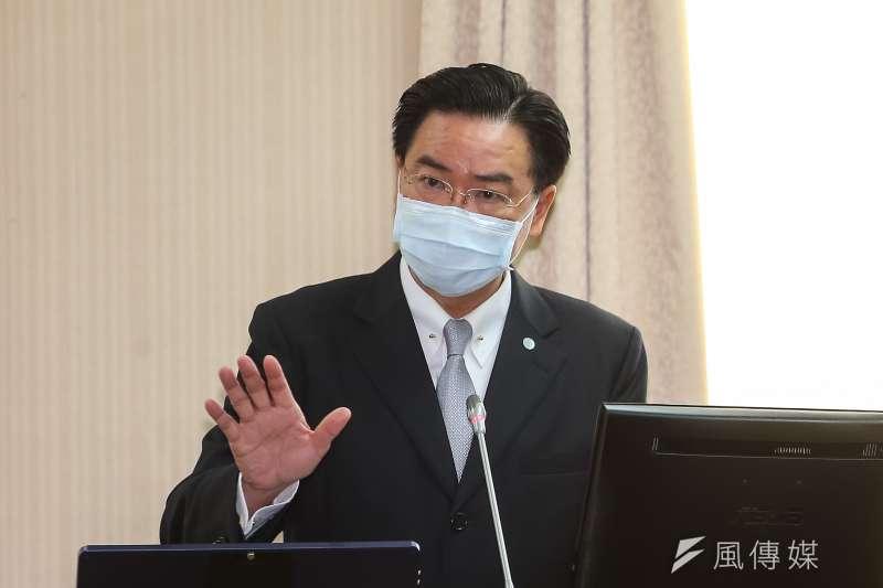 20200423-外交部長吳釗燮23日於立院外交國防委員會備詢。(顏麟宇攝)