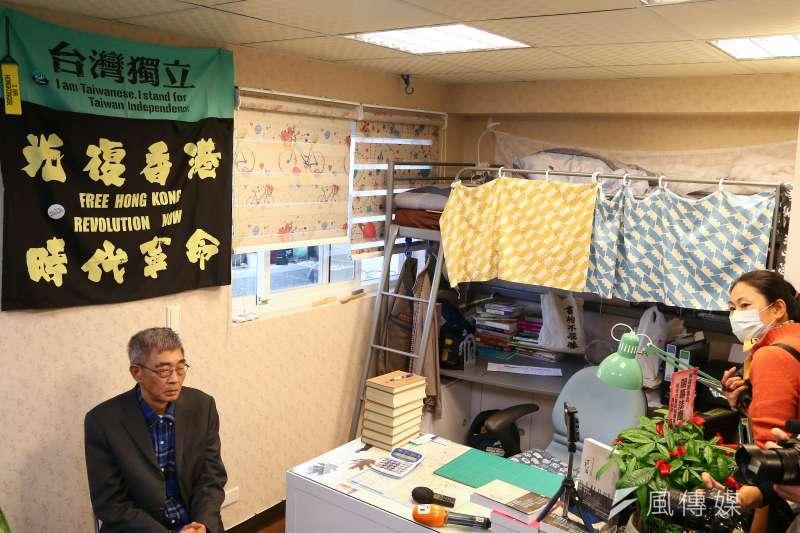 香港銅鑼灣書店在台北重新開幕。圖為負責人林榮基。(顏麟宇攝)