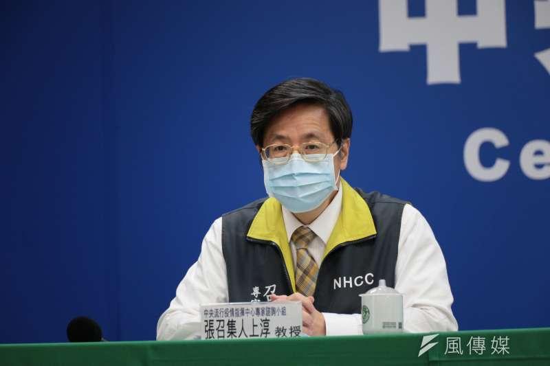日本研發的抗流感藥物法匹拉韋(Favipiravir),被外界視為是對抗新冠肺炎(武漢肺炎)病毒的有效藥物之一。中央流行疫情指揮中心專家小組召集人張上淳30日對此進行說明。(中央流行疫情指揮中心提供)