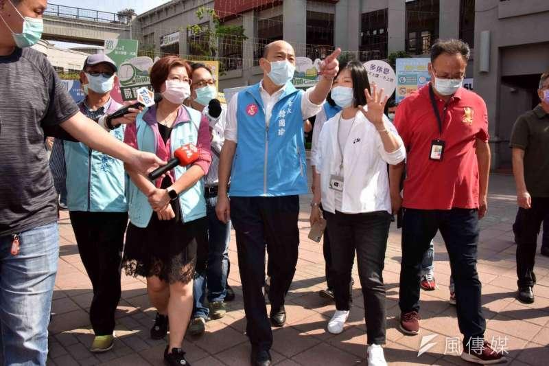 高雄市長韓國瑜不論怎麼做,罷韓團體都有話說。(圖/徐炳文攝)