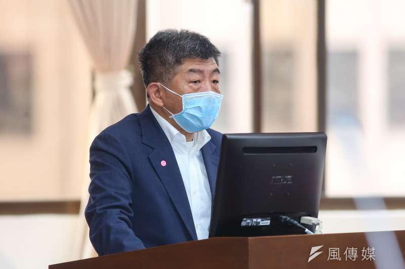 衛福部長陳時中(見圖)27日出席立院財政委員會時指出,台灣疫情有機會在6月底趨緩。(顏麟宇攝)