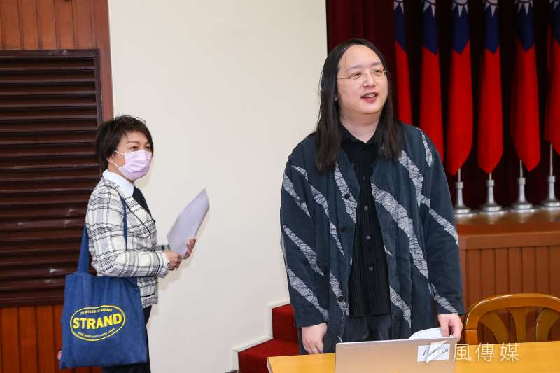 政務委員唐鳳。(顏麟宇攝)