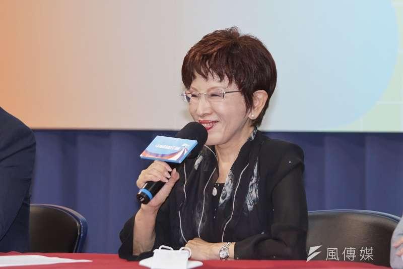 國民黨前主席洪秀柱(見圖)表示,兩岸一觸即發,美國最後不一定會來幫助台灣,要保護台灣唯有自立自強。(資料照,盧逸峰攝)
