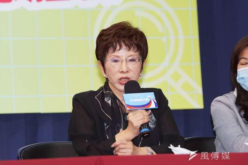 國民黨前主席洪秀柱(見圖)在臉書貼文,呼籲高雄市民6月6日一起出門投下反對罷免票。(資料照,盧逸峰攝)
