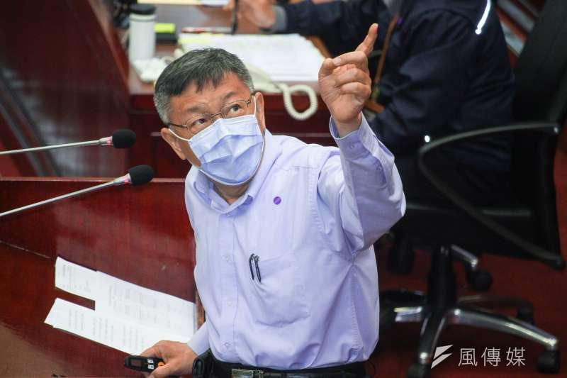 台北市長柯文哲(見圖)強調,不管是「館長」或旺旺因廣告不實被罰,台北市府都是依法行政。(資料照,蔡親傑攝)