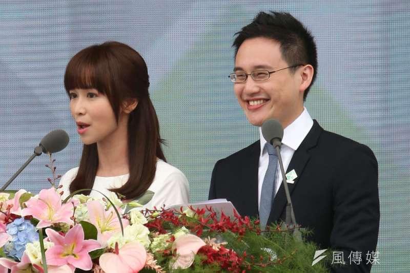 趙怡翔(右)被派駐美,曾引發重大爭議。(新新聞資料照)